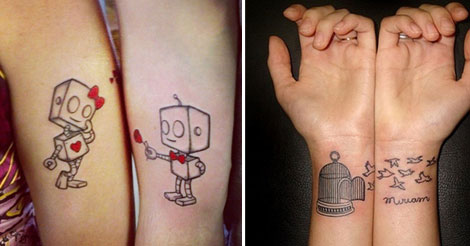 20 Adorable Couples Tattoos To Share With Your Love. The #4 is priceless!