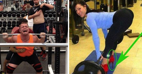 24 Most Hilarious Gym Fails. I couldn't help laughing at #14!